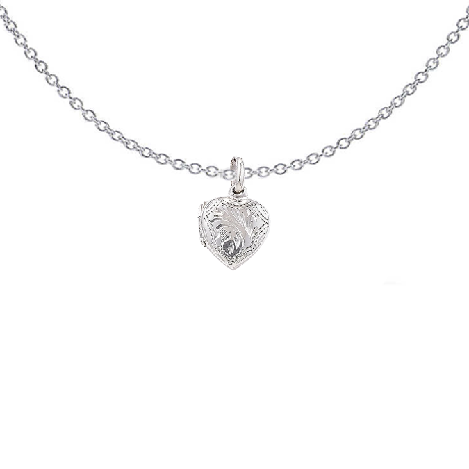 Etched Heart Locket
