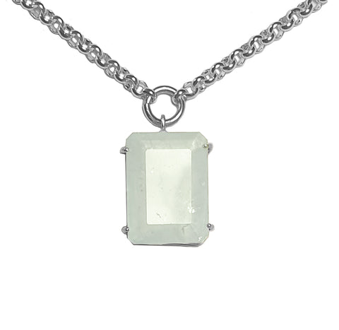 Maxi Aquamarine Signature Stone Necklace