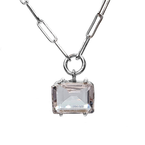 Midi Quartz Signature Stone Necklace