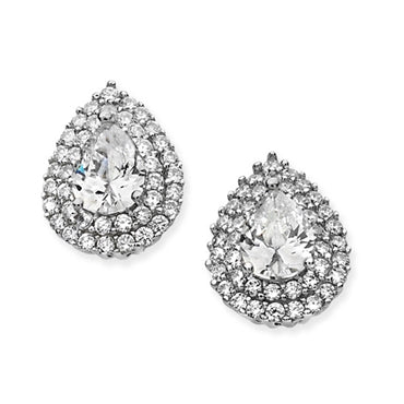 Pair Shape Halo Set Studs