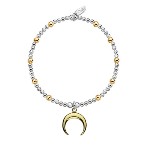 Golden Crescent Moon Bracelet