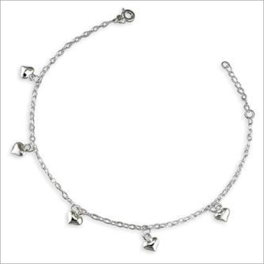 Puffed heart anklet Anklet
