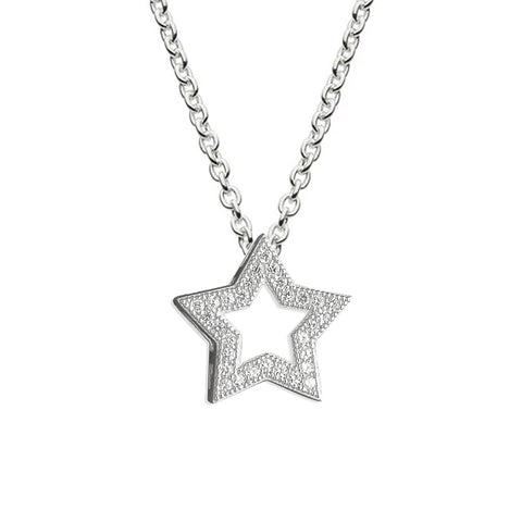 Sparkle Open Star Necklace