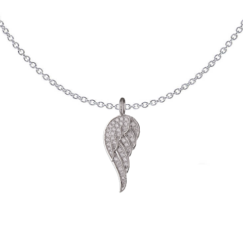 Sparkle Angel Wing Necklace
