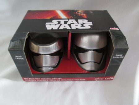 Star Wars Bank and Mug - Set of 2 - Ep. 7 Trooper Commander Zak! Designs - Sculpted Ceramic - SP Retail