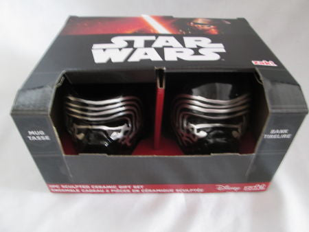 Star Wars Bank and Mug - Set of 2 - Ep. 7 Lead Villain Kylo Ren Zak! Designs - Sculpted Ceramic - SP Retail