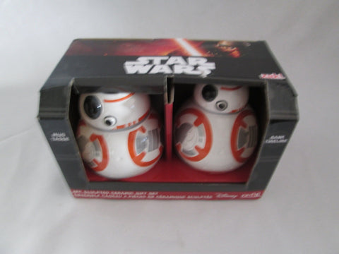 Star Wars Bank and Mug - Set of 2 - Ep. 7 Lead Hero Droid BB-8 Zak! Designs - Sculpted Ceramic - SP Retail