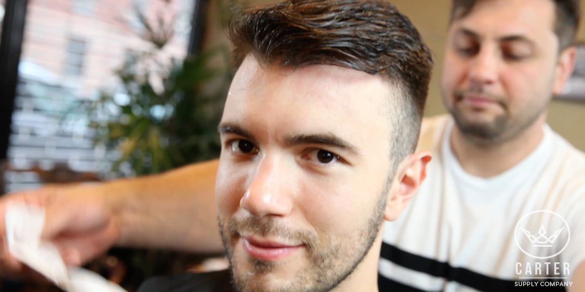 Cool Hairstyle for Men | Medium Comb Over with Short Fade Hair | Summer Haircut Carter Supply Company