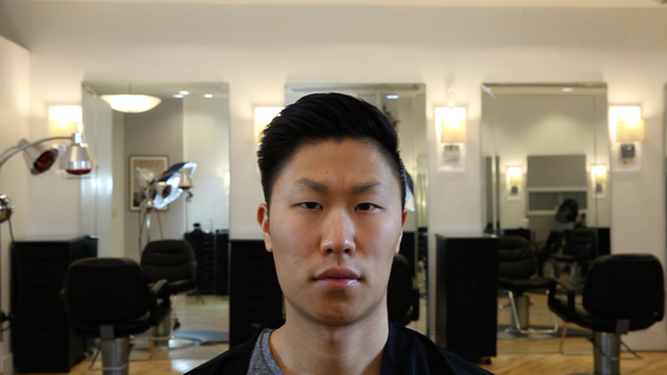 Popular Asian Hairstyles Disconnected Side Sweep Thick Hair