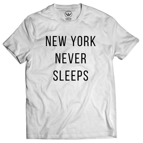 Carter Supply Company New York Never Sleeps Shirt White Front