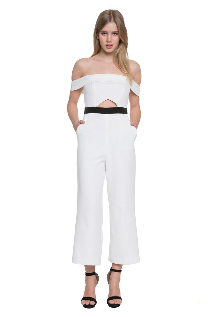 Offshoulder Jumpsuit in White