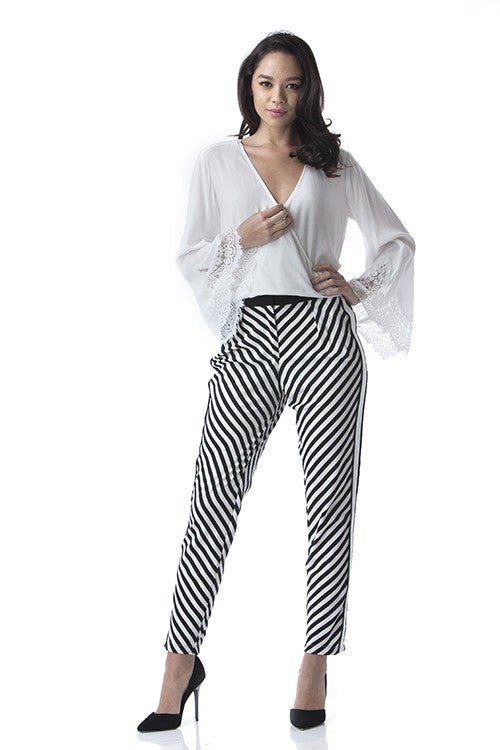 Black & White Pants -  - Bottom - COME SHOP WITH LOVE - 5