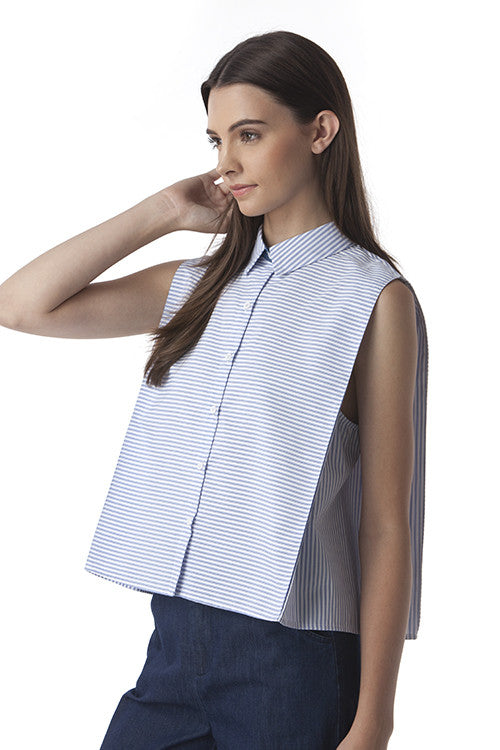 Boxy Stripes Top -  - Top - COME SHOP WITH LOVE - 3