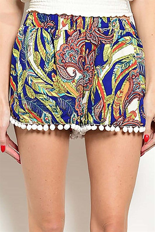 Colorful Pom Pom Shorts -  - Bottom - COME SHOP WITH LOVE - 1