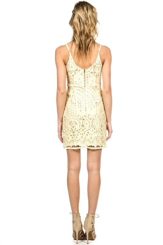 Crochet Lace Dress in Summer Yellow -  - Dress - COME SHOP WITH LOVE - 2