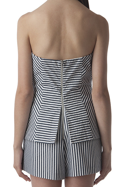 Strapless Romper Blue and White Stripes -  - Romper - COME SHOP WITH LOVE - 2