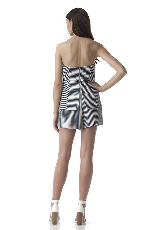 Strapless Romper Blue and White Stripes -  - Romper - COME SHOP WITH LOVE - 5