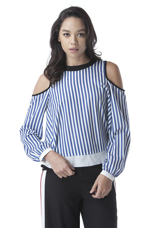 Overlapping Back Shoulder Cutout Top -  - Top - COME SHOP WITH LOVE - 4