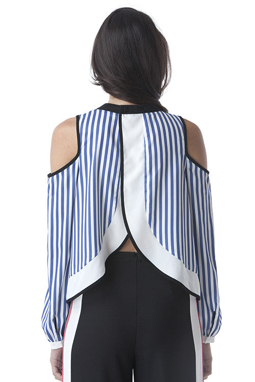 Overlapping Back Shoulder Cutout Top -  - Top - COME SHOP WITH LOVE - 2