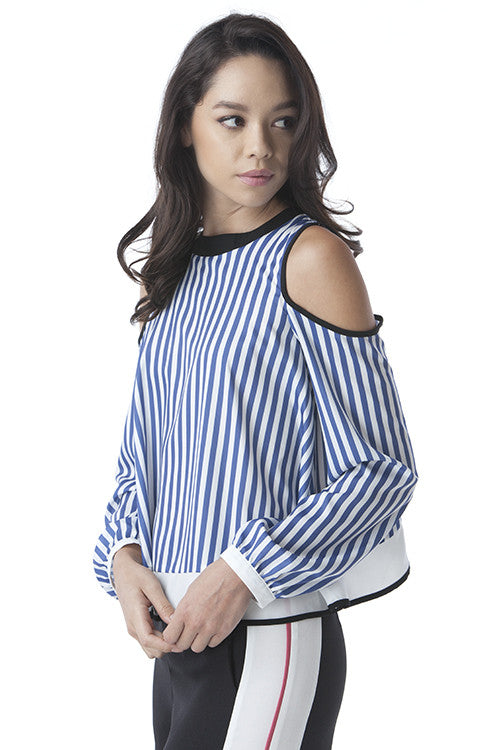 Overlapping Back Shoulder Cutout Top -  - Top - COME SHOP WITH LOVE - 1