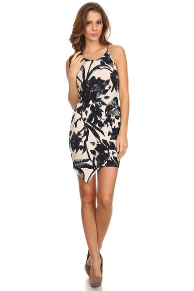 Tropical Asymmetric Dress -  - Dress - COME SHOP WITH LOVE