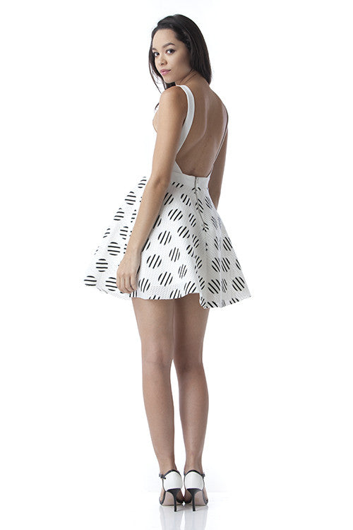 White Criss Cross Open Back Dress -  - Dress - COME SHOP WITH LOVE - 2