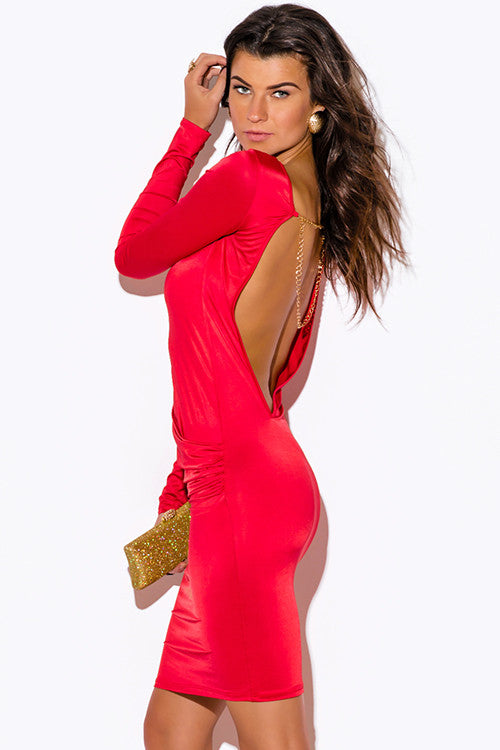 Backless and Beautiful Fire Dress -  - Dress - COME SHOP WITH LOVE - 4