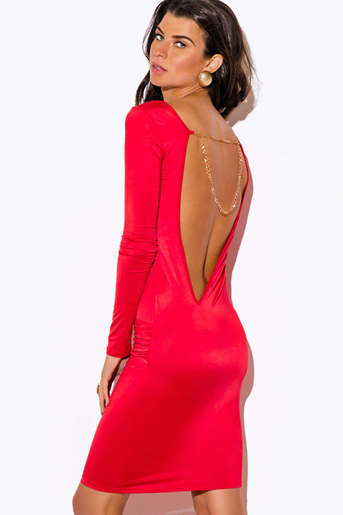 Backless and Beautiful Fire Dress -  - Dress - COME SHOP WITH LOVE - 5