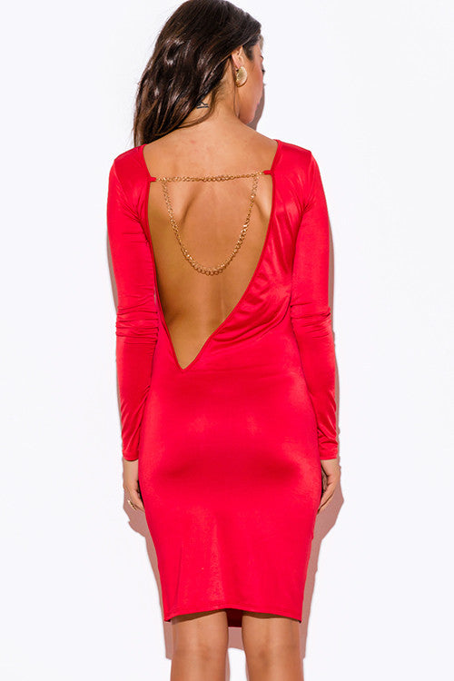 Backless and Beautiful Fire Dress -  - Dress - COME SHOP WITH LOVE - 6
