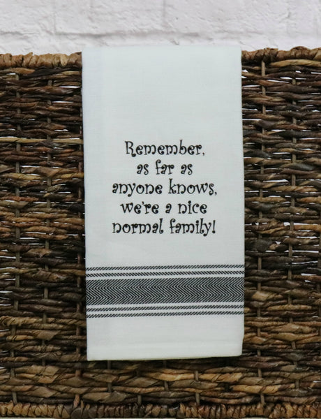 Normal Family Tea Towel