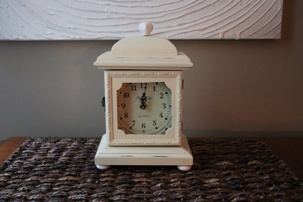 Cream Colored Mantel Clock