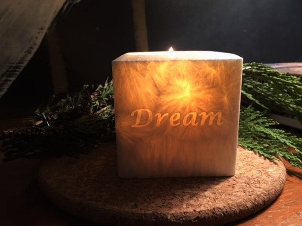 "3 "" Square DREAM Aromatherapy Candle"