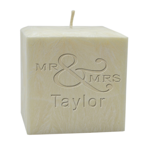 PALM WAX CANDLE : MR & MRS