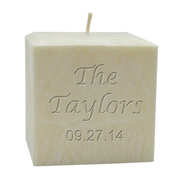 PALM WAX CANDLE : NAME & DATE