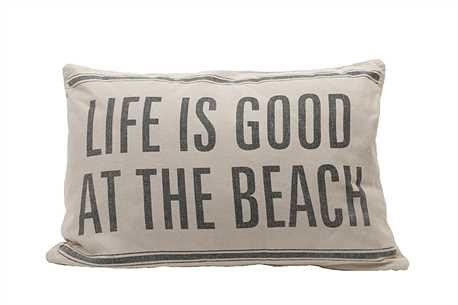 Beach Themed Pillow Cover