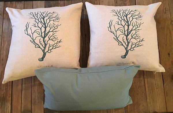 Coral-Themed Pillow Covers--SET OF 3