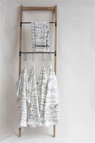 Linen Towel with Recipes