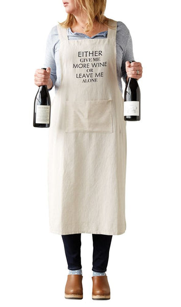 """Give Me More Wine"" Apron"