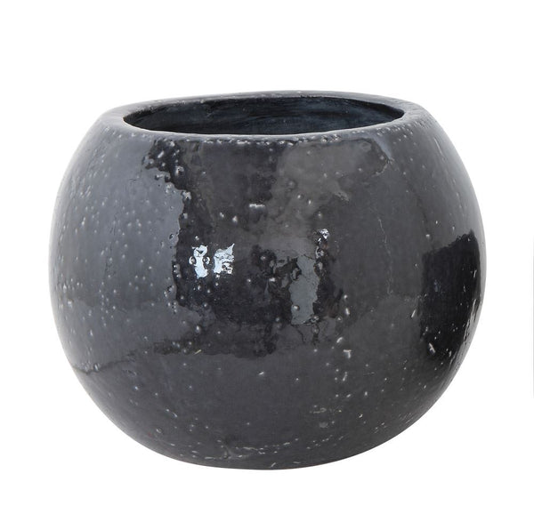 Black Stoneware Planter