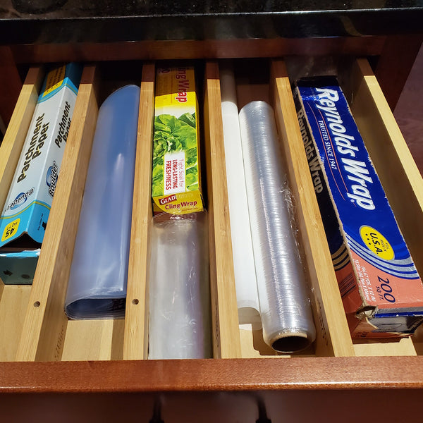 Adjustable Bamboo Drawer Dividers