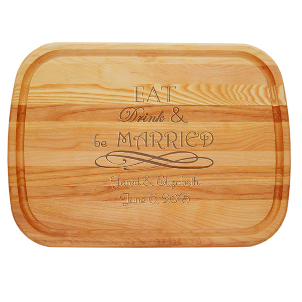 EVERYDAY BOARD: LARGE PERSONALIZED EAT DRINK & BE MARRIED