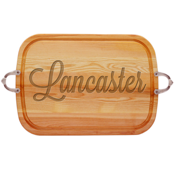 EVERYDAY COLLECTION: LARGE SERVING TRAY WITH NOUVEAU HANDLES PERSONALIZED