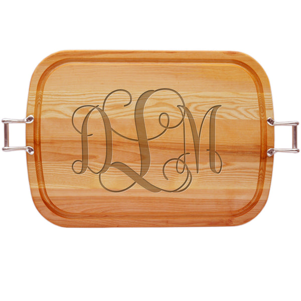 EVERYDAY COLLECTION: LARGE SERVING TRAY WITH URBAN HANDLES PERSONALIZED