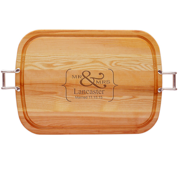EVERYDAY COLLECTION: LARGE TRAY URBAN HANDLES PERSONALIZED MR & MRS