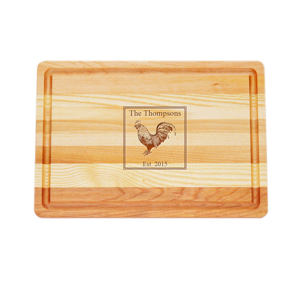 French Rooster Cutting Board