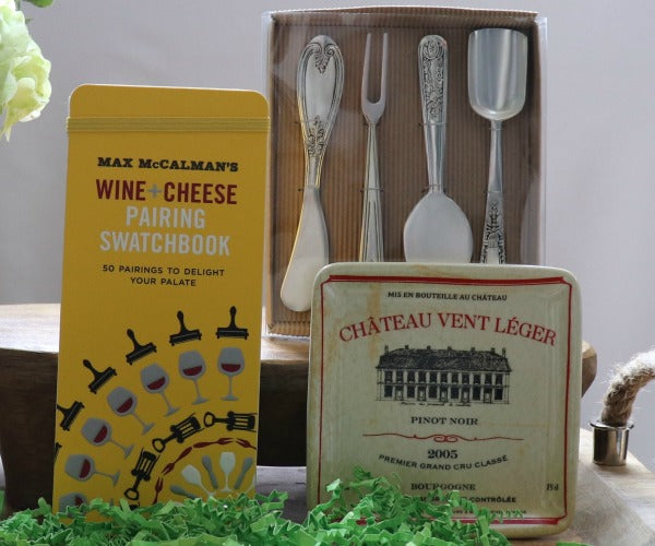 French Style Wine & Cheese Gift Set