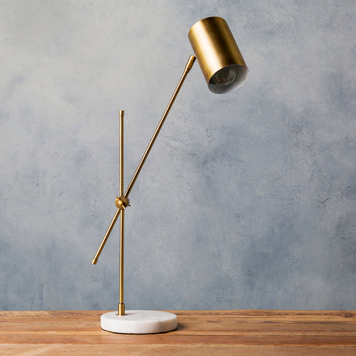 Brushed Metal Table Lamp