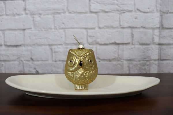 Large Glass Owl Ornament