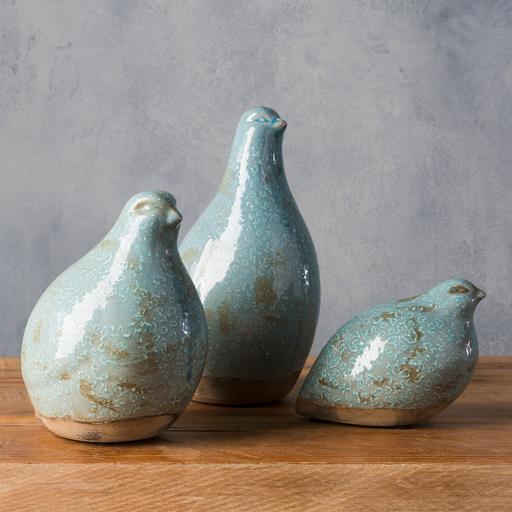Ceramic Birds in Sage