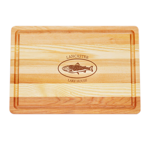 MEDIUM MASTER COLLECTION BOARD PERSONALIZED TROUT LAKE HOUSE